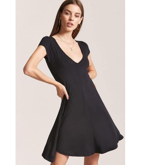 Imbracaminte Femei Forever21 V-Neck Swing Dress BLACK