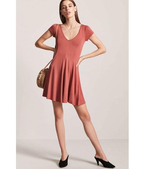 Imbracaminte Femei Forever21 V-Neck Swing Dress SANGRIA