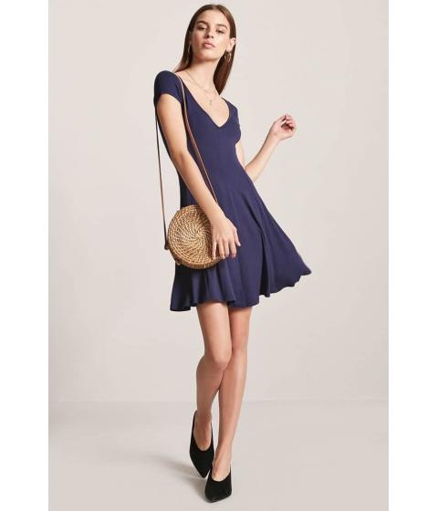 Imbracaminte Femei Forever21 V-Neck Swing Dress NAVY