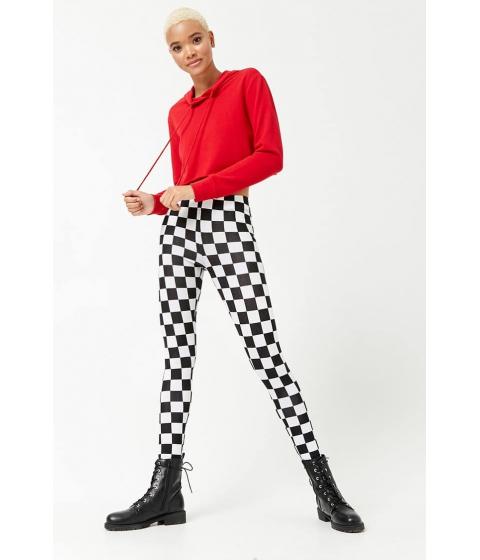 Imbracaminte Femei Forever21 Checkered Knit Leggings BLACKWHITE