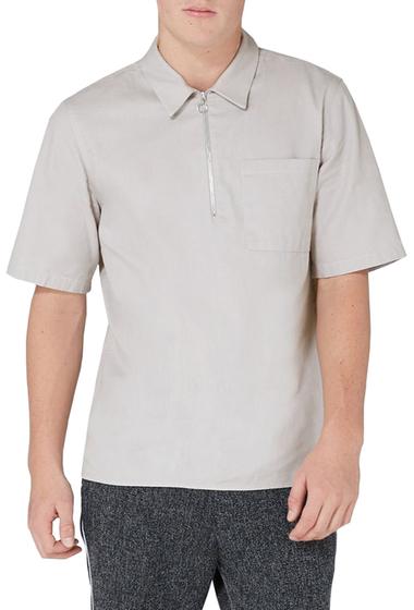 Imbracaminte Barbati TOPMAN Modern Fit Zip Shirt GREY