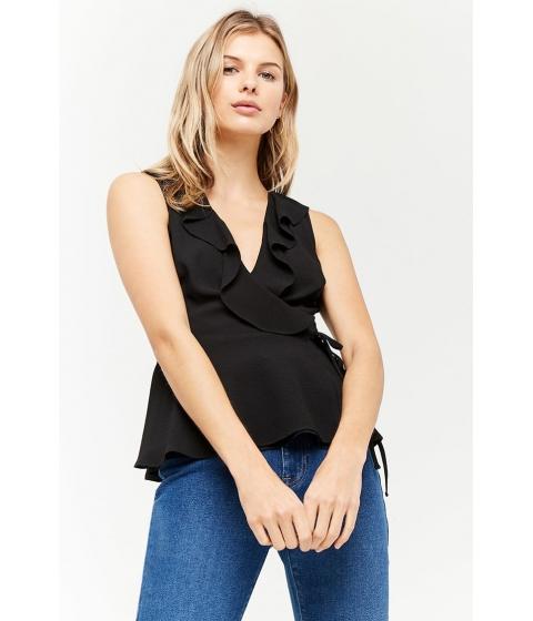 Imbracaminte Femei Forever21 Ruffled Wrap Top BLACK