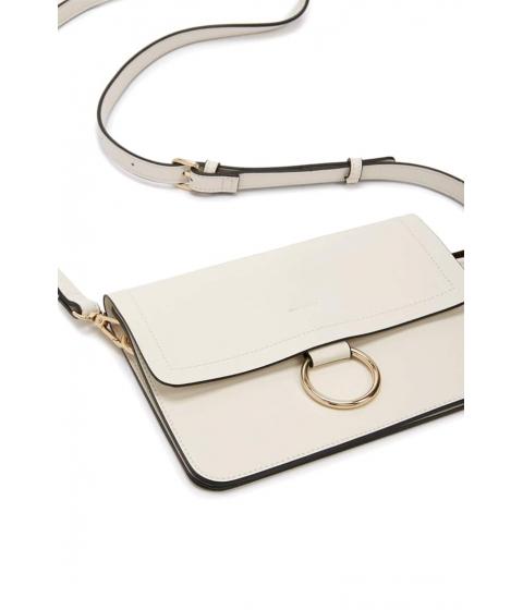 Genti Femei Forever21 O-Ring Crossbody Bag WHITE