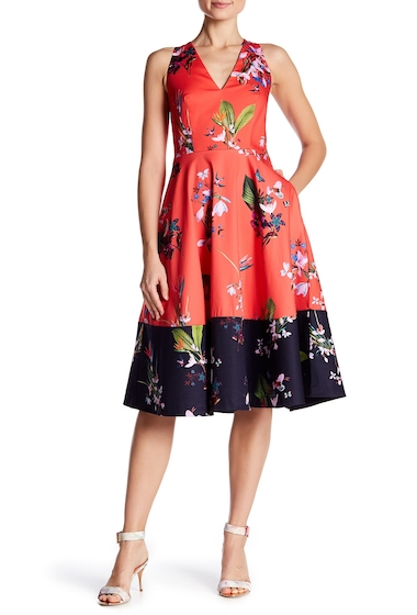 Imbracaminte Femei Ted Baker London Esselle Floral Midi Dress MID RED