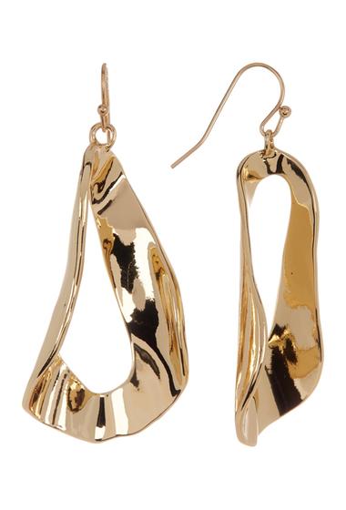 Bijuterii Femei 14th Union Twisted Statement Front-Facing Hoop Earrings GOLD