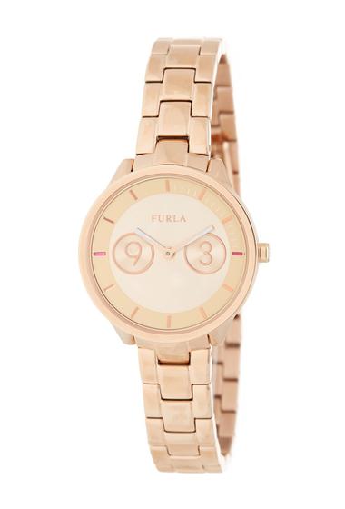 Ceasuri Femei Furla Womens Metropolis Bracelet Watch 31mm GOLD