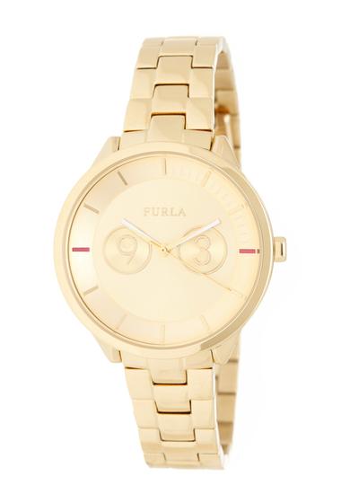 Ceasuri Femei Furla Womens Metropolis Bracelet Watch 38mm GOLD