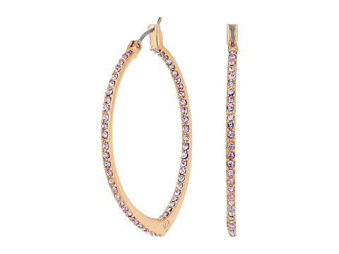 Bijuterii Femei Marc Jacobs Sparkling Small Hoop Earrings Rose Gold TonePurple