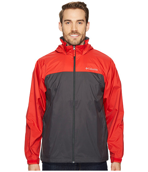 Imbracaminte Barbati Columbia Glennaker Lake Lined Rain Jacket SharkRed Spark