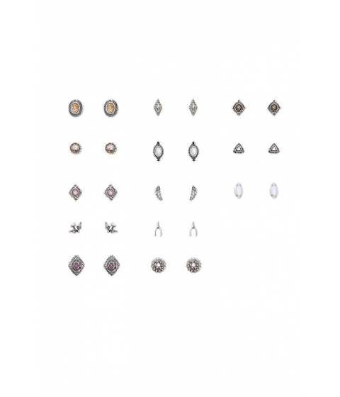 Bijuterii Femei Forever21 Assorted Burnished Stud Earring Set BSilver
