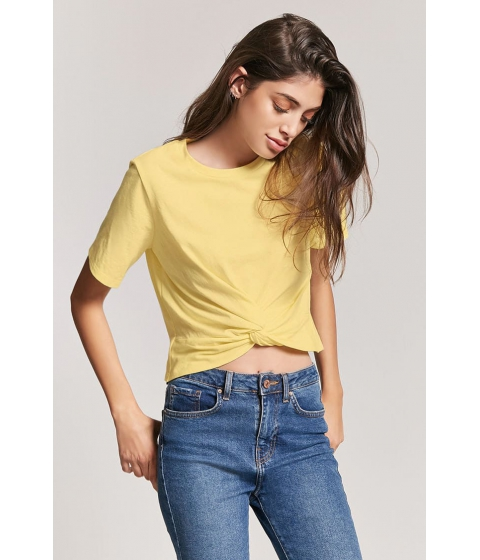 Imbracaminte Femei Forever21 Twist-Front Tee YELLOW