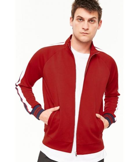 Imbracaminte Barbati Forever21 Varsity-Striped Track Jacket REDBLUE