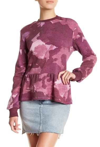 Imbracaminte Femei Alternative Apparel Camo Print Peplum Hem Pullover WNTRBLOOMD