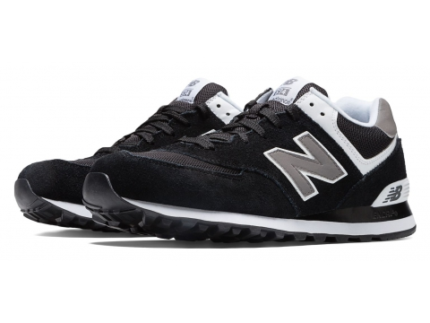 Incaltaminte Barbati New Balance Mens 574 Classics Black with Grey White
