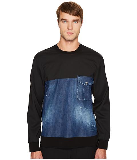 Imbracaminte Barbati DSQUARED2 Stretch Denim Pullover Shirt Blue