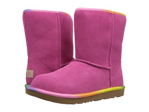 Incaltaminte Fete UGG Classic Short II Rainbow (Little KidBig Kid) Pink Azalea