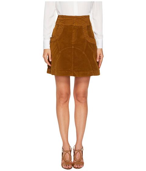 Imbracaminte Femei See by Chloe Velvet A Line Skirt Bronze Brown