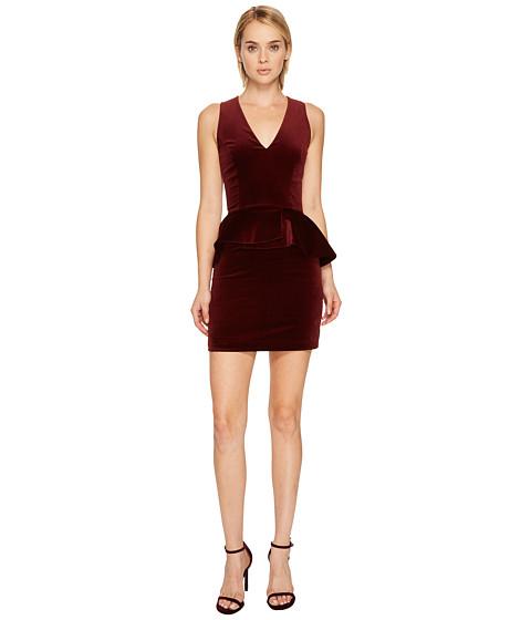 Imbracaminte Femei Pierre Balmain Velvet Peplum Mini Dress Bourgogne
