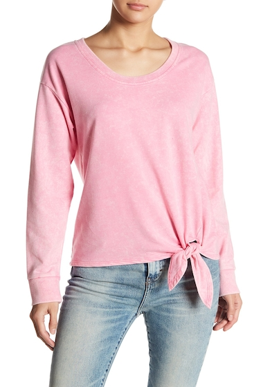 Imbracaminte Femei Socialite Knot Front Sweatshirt PINK