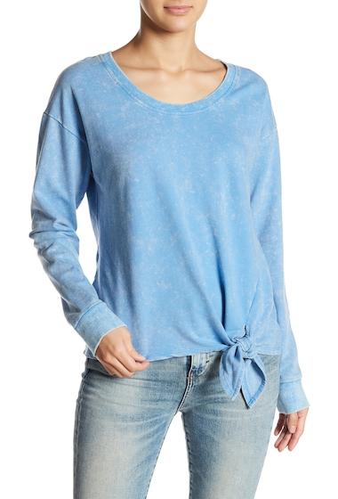 Imbracaminte Femei Socialite Knot Front Sweatshirt BLUE