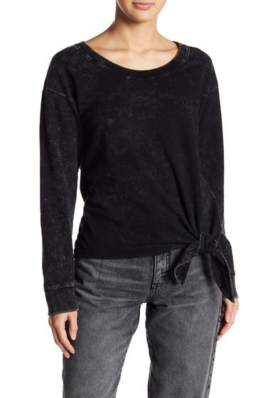 Imbracaminte Femei Socialite Knot Front Sweatshirt BLACK