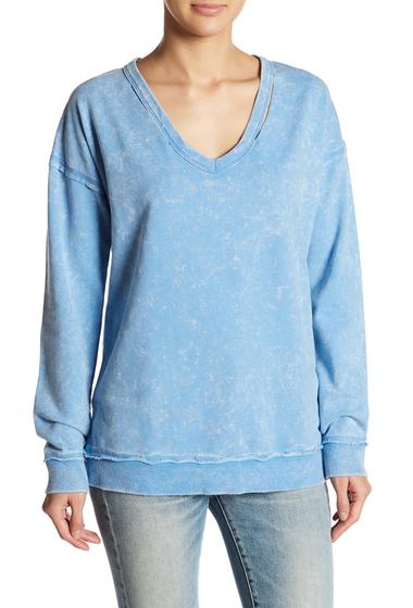 Imbracaminte Femei Socialite Slashed V-Neck Sweatshirt CHAMBRAY