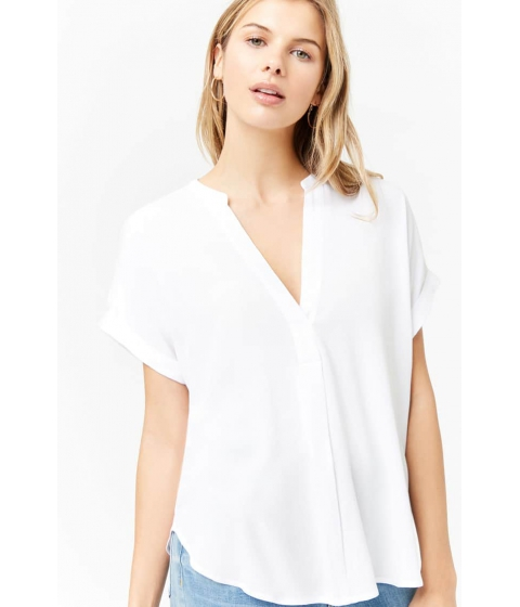 Imbracaminte Femei Forever21 Woven Split-Neck Top WHITE