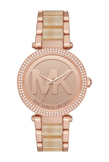 Ceasuri Femei MICHAEL Michael Kors Womens Parker Three-Hand Watch ROSEGOLD