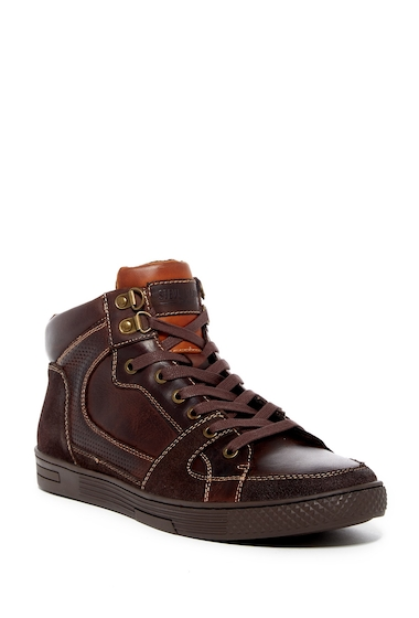 Incaltaminte Barbati Steve Madden Cavern Leather Sneaker BROWN LEATHER