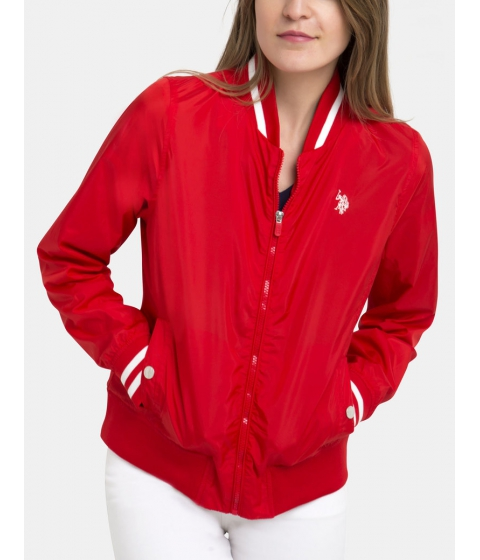 Imbracaminte Femei US Polo Assn BASEBALL JACKET RACING RED