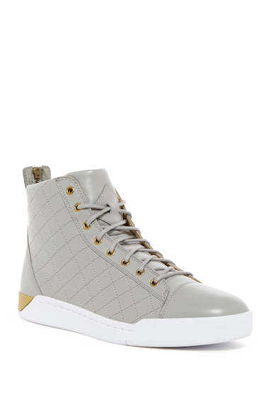 Incaltaminte Barbati Diesel Tempus Diamond Leather High-Top Sneaker BLUE-MULTI