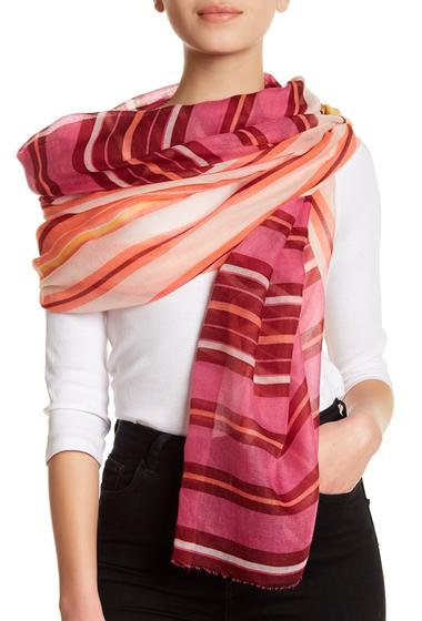 Accesorii Femei 14th Union Multi Stripe Wrap Scarf PINK COMBO
