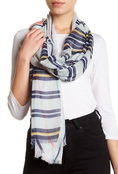 Accesorii Femei 14th Union Multi Stripe Wrap Scarf BLUE COMBO