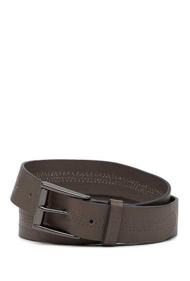 Accesorii Barbati Ted Baker London Brambel Textured Leather Belt GREY