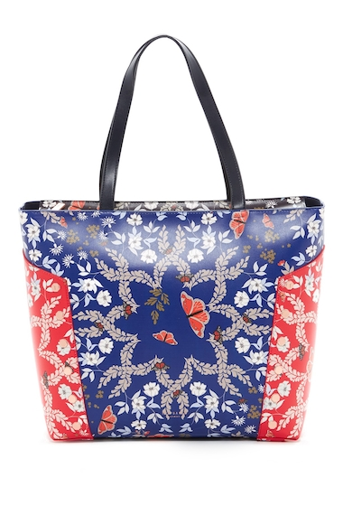 Genti Femei Ted Baker London Kyoto Gardens Studded Shoulder Bag BRT BLUE