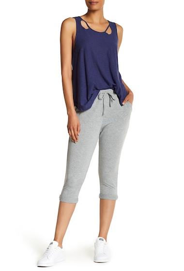 Imbracaminte Femei Michelle by Comune Rolled Hem Knit Cropped Joggers HEATHER GREY
