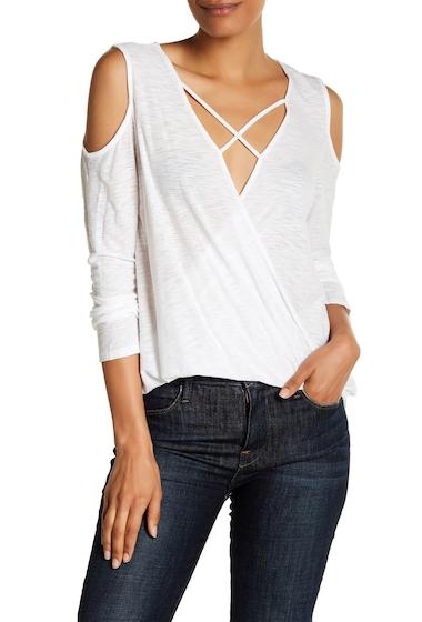 Imbracaminte Femei Michelle by Comune Cold Shoulder Surplice Blouse WHITE