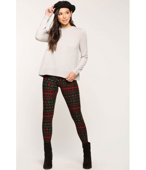 Imbracaminte Femei CheapChic Comet And Blitzen Christmas Leggings Black Print