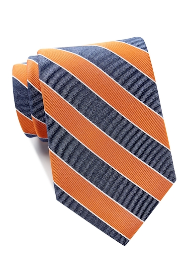 Accesorii Barbati Tommy Hilfiger Denim Bar Stripe Tie - Extra Long ORANGE