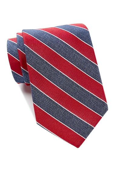 Accesorii Barbati Tommy Hilfiger Denim Bar Stripe Tie - Extra Long RED