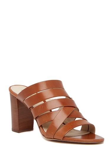 Incaltaminte Femei Louise et Cie Footwear Kalika Leather High Heel Mule CHESTNUT01