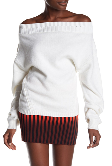 Imbracaminte Femei Opening Ceremony Off-the-Shoulder Wool Blend Sweater WHITE