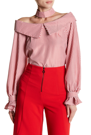 Imbracaminte Femei Do Be Choker Off-the-Shoulder Top RED