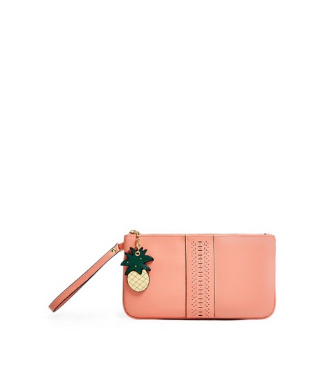 Accesorii Femei GUESS Laser-Cut Charm Pouch coral