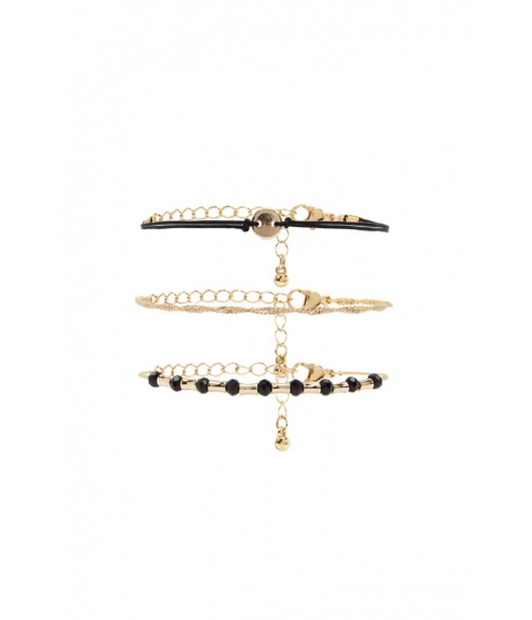 Bijuterii Femei Forever21 Twisted Curb Chain Bracelet Set GOLDBLACK