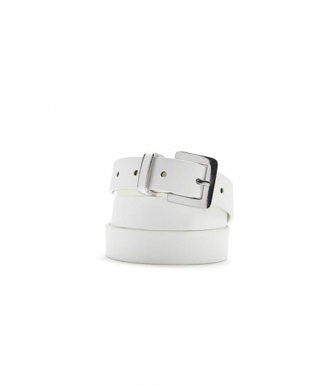 Accesorii Femei Forever21 Faux Leather Belt WHITE
