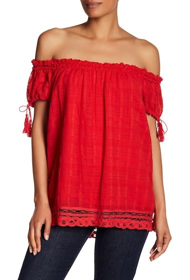 Imbracaminte Femei Max Studio Off-the-Shoulder Tassel Blouse RED