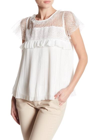 Imbracaminte Femei Romeo Juliet Couture Crochet Pleated Short Sleeve Blouse IVORY