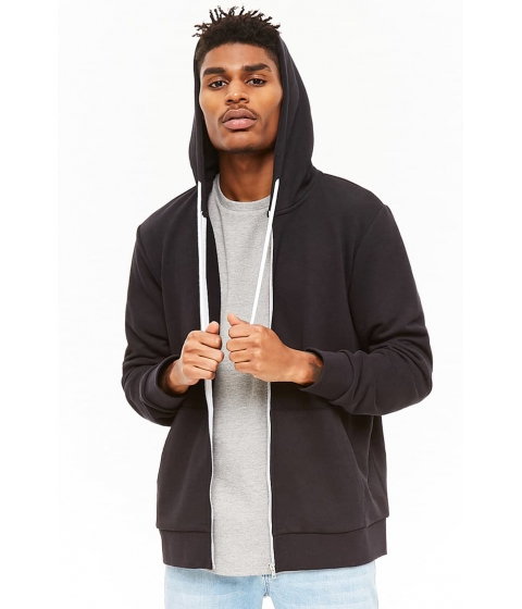 Imbracaminte Barbati Forever21 French Terry Zip-Up Hoodie BLACK