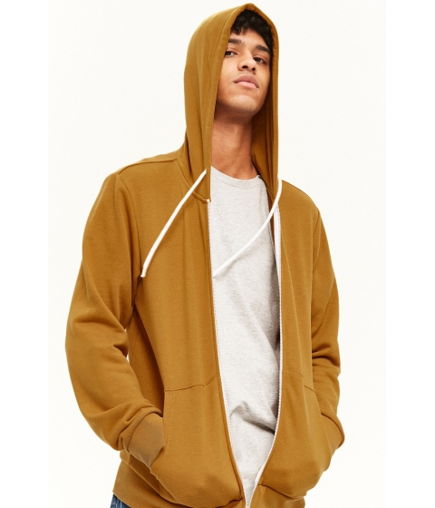 Imbracaminte Barbati Forever21 French Terry Zip-Up Hoodie MUSTARD